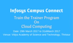 Infosys Campus Connect train the trainer program