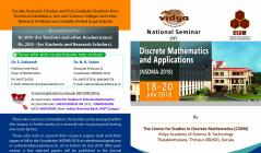 National Seminar on Discrete Mathematics and Applications (NSDMA-2018)