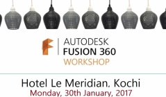 Attended a one day Workshop on 'Autodesk Fusion 360 Workshop'