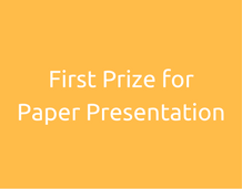 First Prize for Paper Presentation
