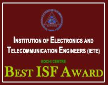 IETE Student's Forum (ISF) receives Best ISF Award