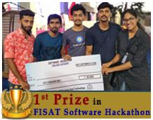 First prize in FISAT Software Hackathon