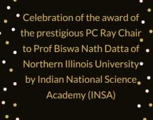 Celebration of the PC Ray Chair Award by INSA
